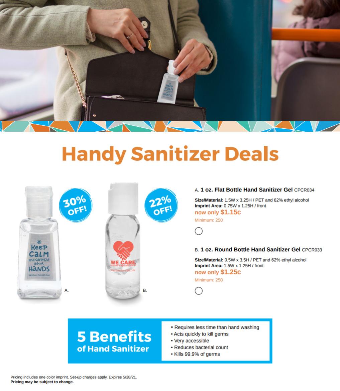 hand sanitizer at 30 off
